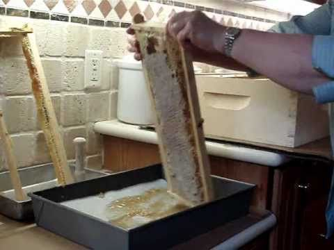 Harvesting honey - crush and strain method. Without an expensive extractor. #beekeeping #honey #selfreliance