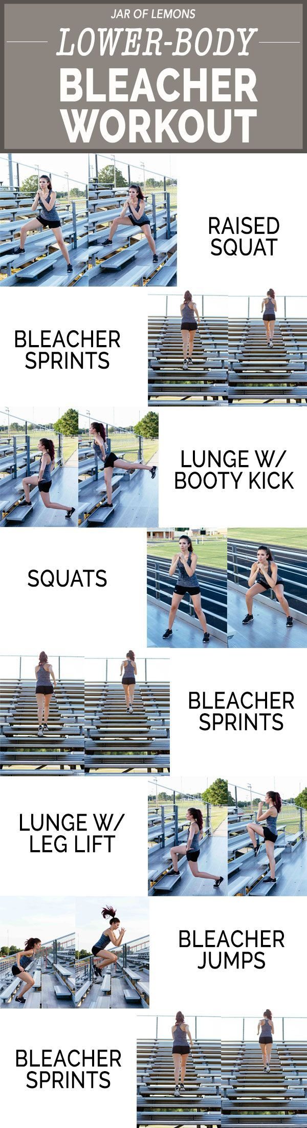 Lower-Body Bleacher Workout!                                                                                                                                                                                 More