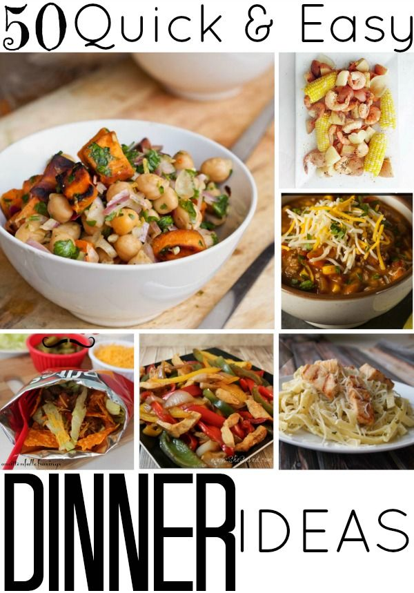 50 quick and easy dinner ideas dinner ideas dinners and for Quick and easy healthy dinner recipes