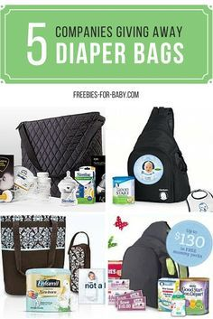 5 Free Diaper Bags by Mail - Get free diaper bags from Gerber, Enfamil, Similac, Nestle, plus lots more free baby stuff! Go Here => http://freebies-for-baby.com/3890/5-free-diaper-bags-filled-with-free-baby-stuff/ #BabySamples #FreeDiapers #FreeBabyStuff
