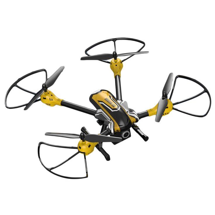 KAIDENG K70H Sky Warrior 2.4G 6 Axis Gyro RC Quadcopter 3D Flips Rolls Headless Mode One Key Return 2.0MP Camera - Black + Yellow