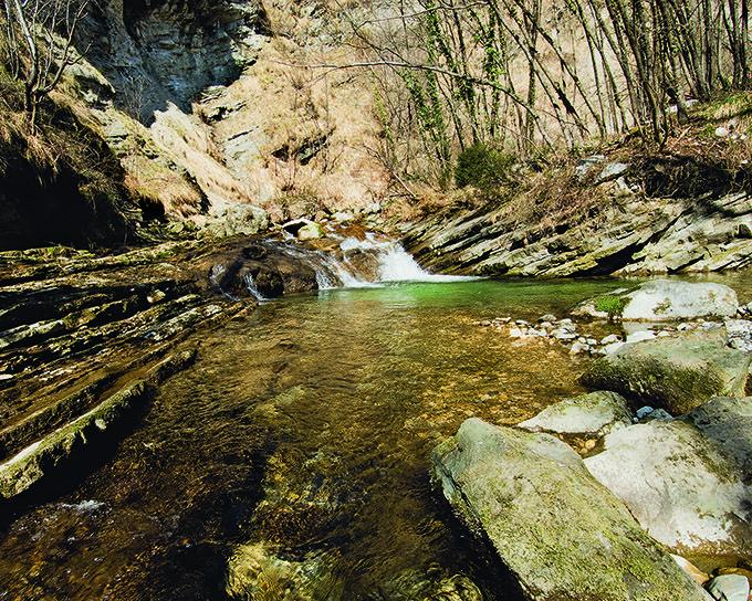 Torrente Orvenco, Artegna // foto di Ulderica Da Pozzo, archivio Ecomuseo delle Acque, Gemona del Friuli