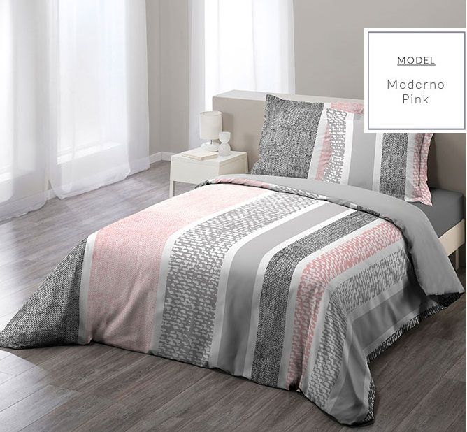 Bavlnené sivé posteľné návliečky pruhované