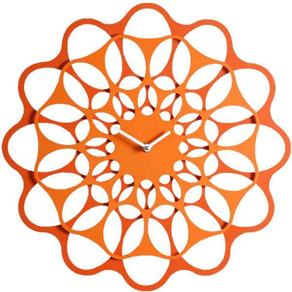Diamantini & Domeniconi & Small Wall clock Orange & Orange ($130) ❤ liked on Polyvore featuring home, home decor, clocks, orange, orange wall clock, metal clock, orange home decor, orange home accessories and metal home decor