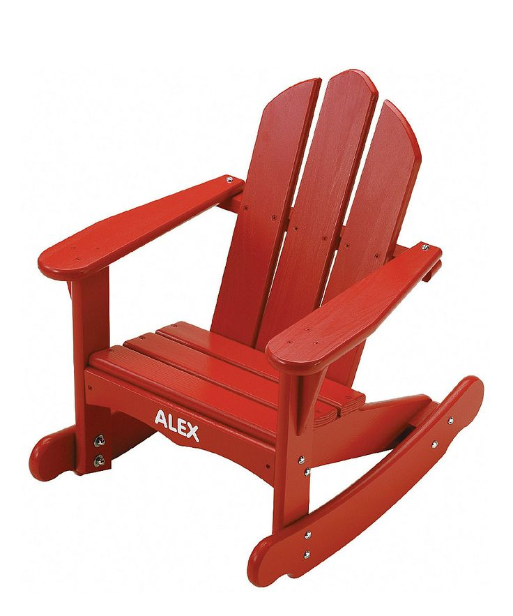 Red Personalized Adirondack Baby Rocking Chair
