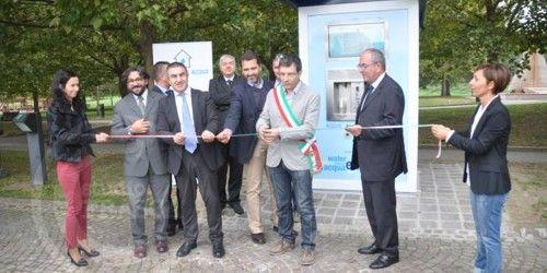 Inaugura la nuova Casa dell'Acqua presso il Parco Urbano di Forlì. #casadellacqua #forlì #parcourbano #acqua