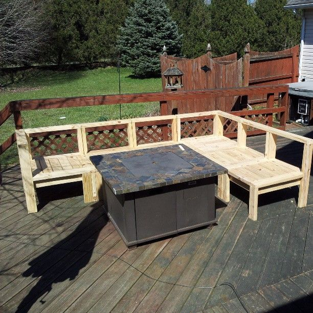 all the sections completed find this pin and more on diy patio furniture