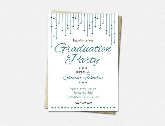 Graduation Party Invitations  High School Graduation