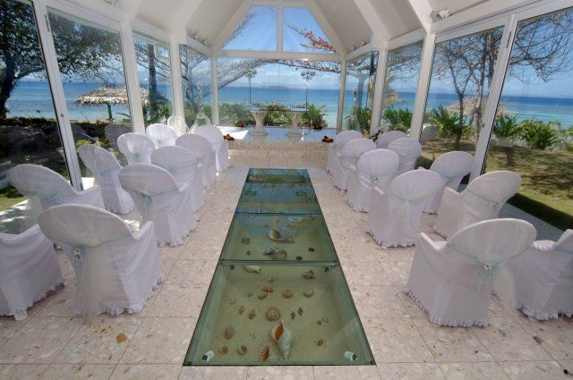 treasure island, fiji   Wedding chapel interior