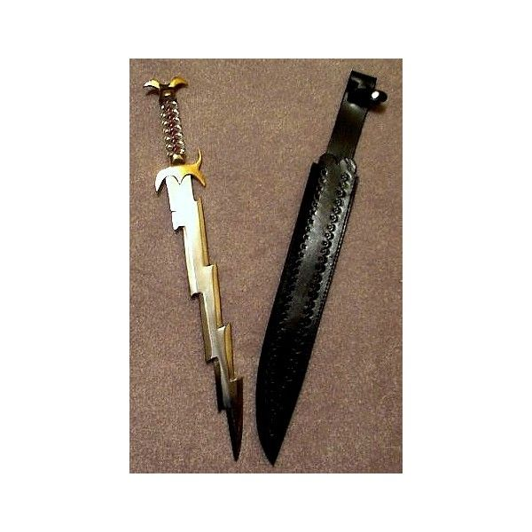 SMC M#01 - Vox360 - Legendary Weapon - Zeus lightning bolt & Sword -... ❤ liked on Polyvore featuring weapons, camp half blood and zeus