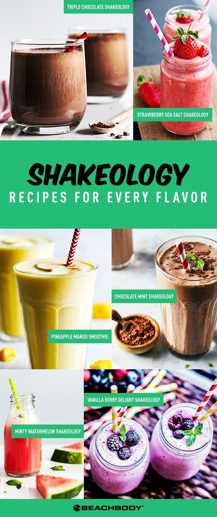 Shakeology Recipes for Every Shakeology Flavor // best Shakeology recipes // 21 Day Fix // Healthy snack recipes // healthy smoothie recipes // vegan recipes// Beachbody // Beachbody Blog // #21dayfix #shakeology #21dayfix #smoothierecipes