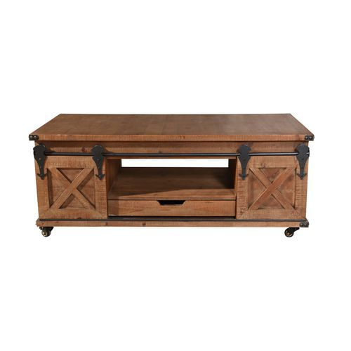 Natural Brown 2 Door Coffee Table Coffee Table Wood Coffee Table Coffee Table With Storage