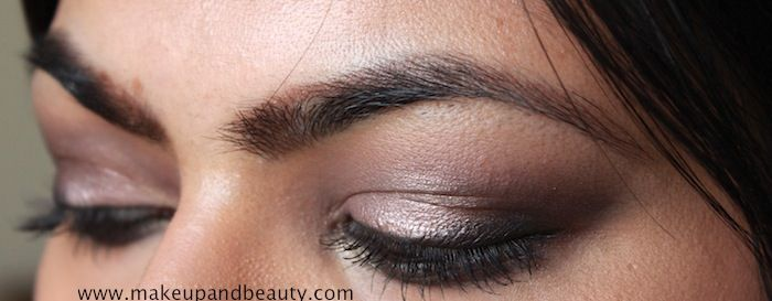 Satin Taupe all over the lid, matte black eyeshadow on the outer corners and lower lash line, black liner on upper lash line , black kajal and mascara..  http://makeupandbeauty.com/mac-satin-taupe-eyeshadow-review-swatch-fotd/