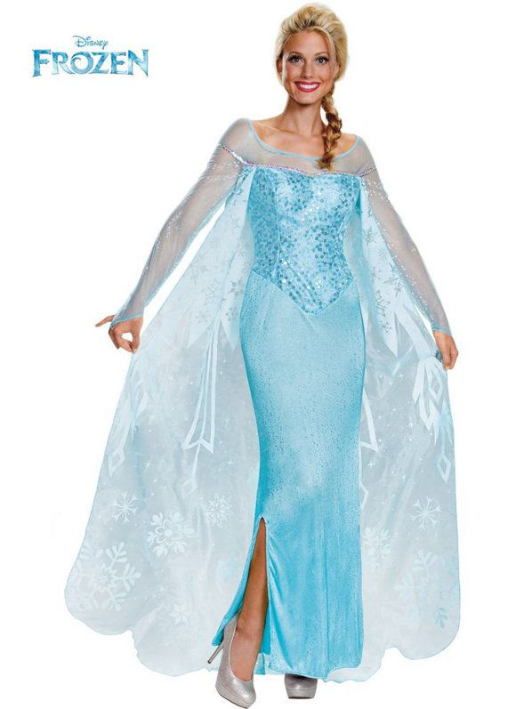 Check out Disney's Frozen Elsa Prestige Costume - Disney Costumes from Costume Super Center