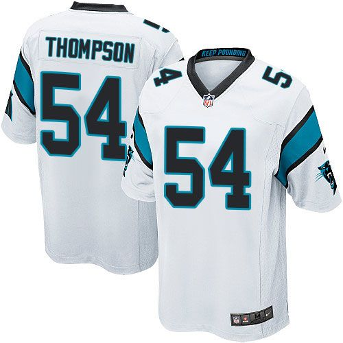 Nike Game Shaq Thompson White Men's Jersey - Carolina Panthers #54 NFL Road