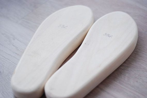 Handmade wooden shoe lasts for forming felted by zavesfelt on Etsy:  These would be smart even when making leather slippers and you shape them.