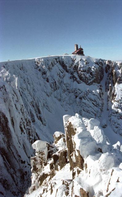 The top of Sněžka (North-East Bohemia), Czechia