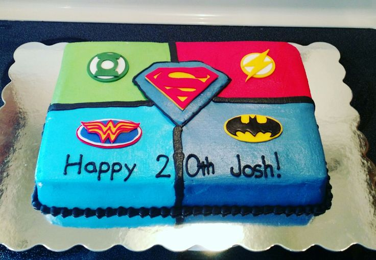 Justice League Cake Decorating | Pinterest