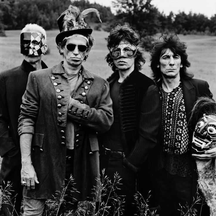 The Rolling Stones - Masks, Toronto | From a unique collection of black and white photography at https://www.1stdibs.com/art/photography/black-white-photography/