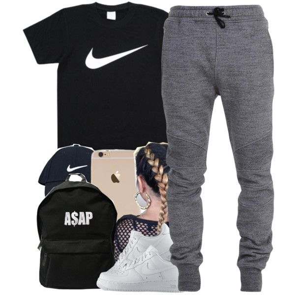 • by yungd on Polyvore featuring polyvore, fashion, style, NIKE, ASAP, Balmain, women's clothing, women's fashion, women and female