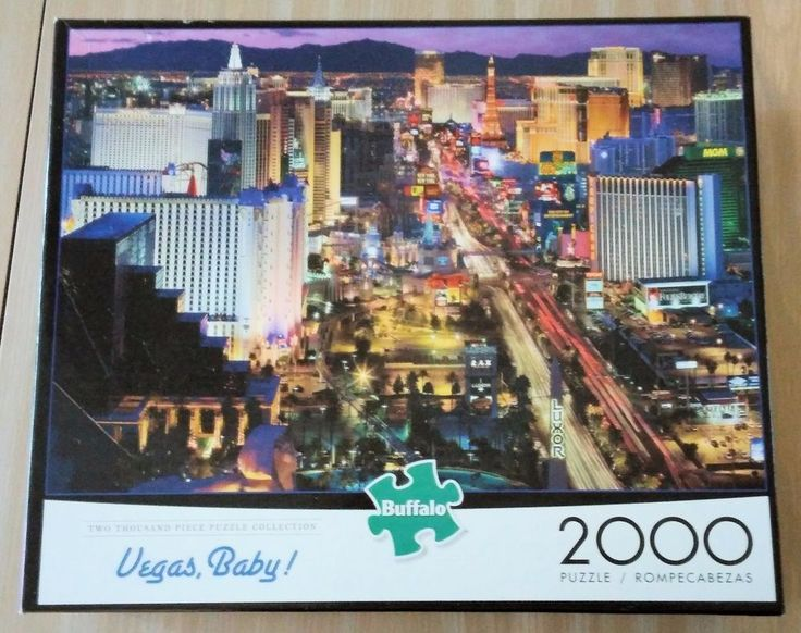 VEGAS BABY! 2000 Piece Jigsaw Puzzle by BUFFALO Luxor MGM Tropicana TRUMP Tower #BuffaloGames