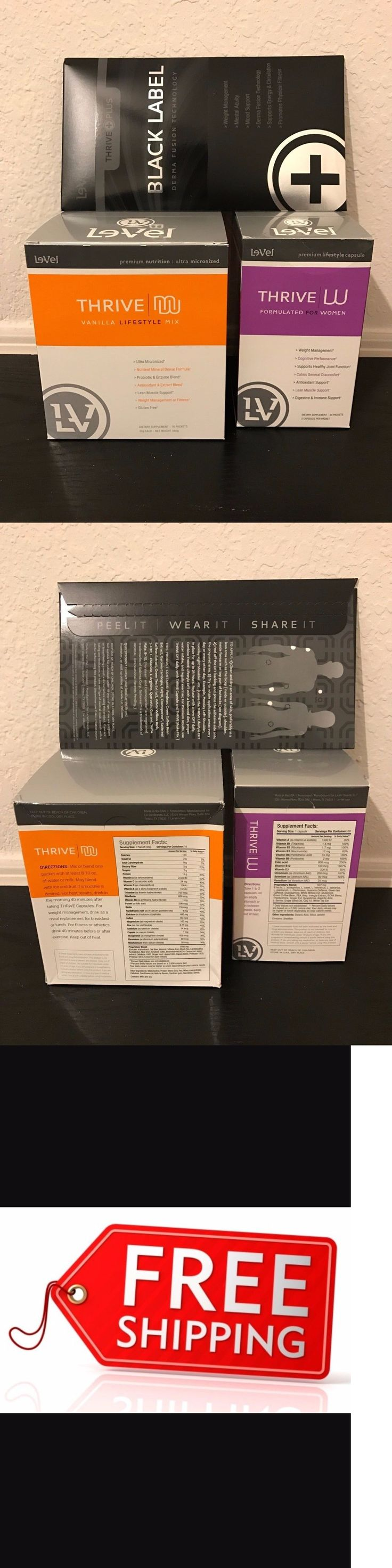 Fat Burners: Le-Vel Thrive Women Pack Vitamins, Black Dft Patches And Vanilla Shakes Free Ship! BUY IT NOW ONLY: $135.0