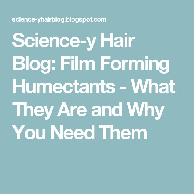 Film Forming Humectants Natural Hair