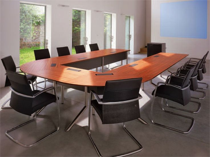 Wooden Meeting table AUDIENCE CONFERENCE Audience Collection by Castelli   design Albert Holz