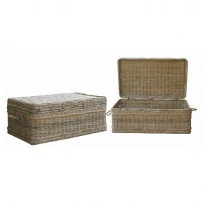 Basket Coffee Table Woven Rattan