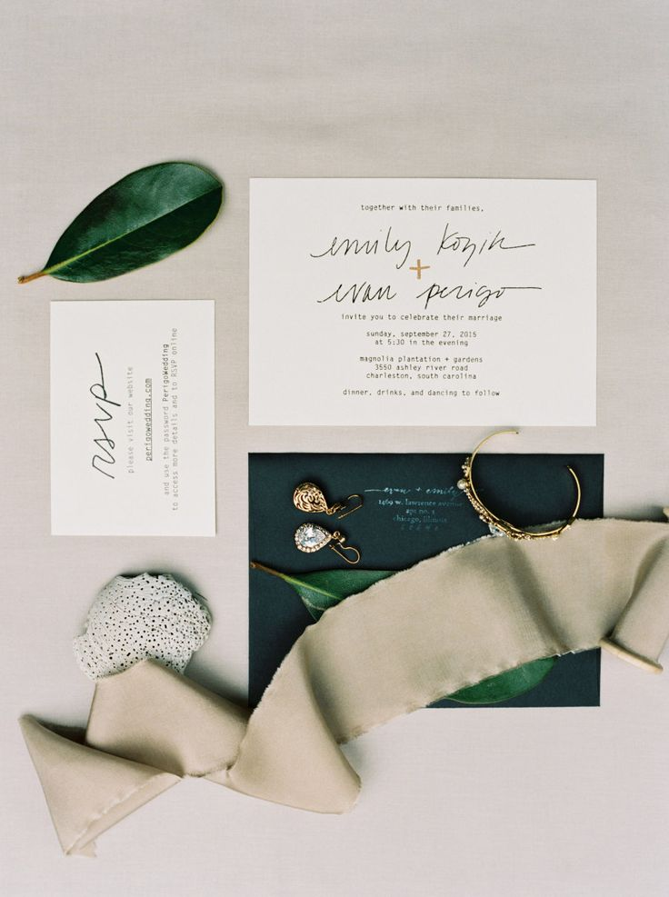 Photography: Kyle John Photography - kylejohnphoto.com Invitations: Emily Perigo - www.perregeaux.com   Read More on SMP: http://www.stylemepretty.com/2016/01/29/destination-charleston-wedding-with-a-contemporary-vibe/