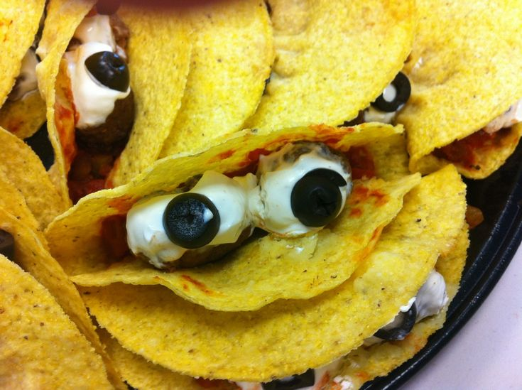 monstor tacos do on cloudy with chance of meatballs night - Scary Halloween Meatballs