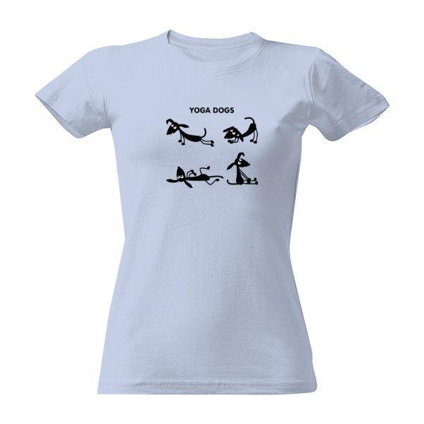 Pořiďte si úžasný produkt Tričko s potiskem psí jóga D. Rychlé dodání. Kvalitní potisk.