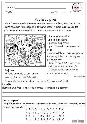 Festa Caipira Atividades Festa Junina Atividades Sobre Festa