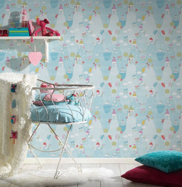 Trend Tapete f r das Babyzimmer Tapete Jungen Kindertapete blau Livingwalls Tapete Babytapete