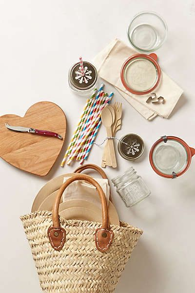 Anthropologie - Picnic-For-Two Basket.. how adorable is this? $128