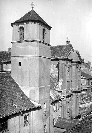 Warszawa - klasztor augustianów i kościół św. Marcina, ul. Piwna, Stare Miasto, fot. H. Poddębski (1917)