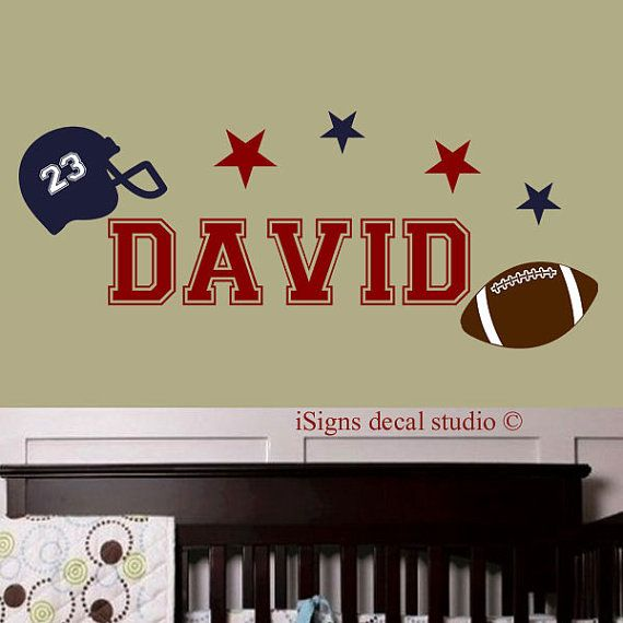 FOOTBALL DECAL - Football Nursery Decal - Sports Decal- kids Decal Sticker, Football, Boys Decals,Wall Stickers