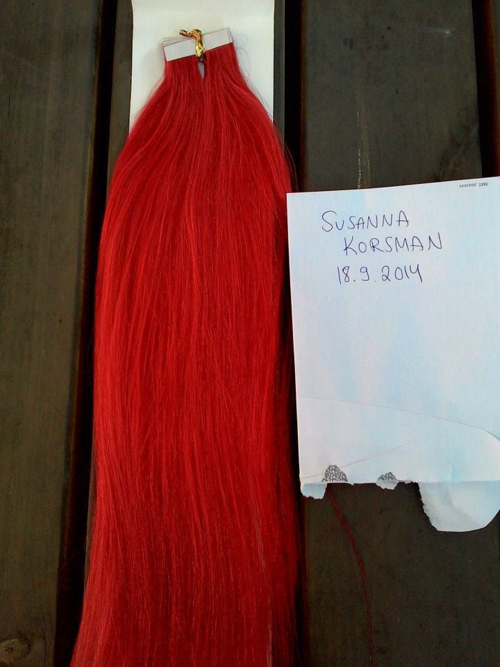FREE SHIPPING Tape human hair extensions 50g / 20pcs  45cm NEW by MayaDesignFinland on Etsy