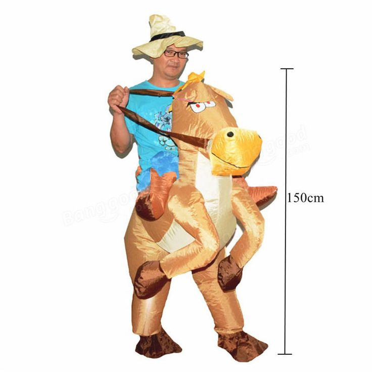 Cowboy Horse Inflatable Costume Carnival Party Fancy Animal Clothing For Adults Free Shipping Sale - Banggood.com