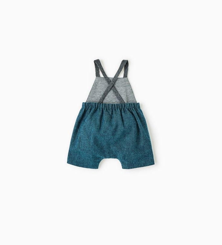 CONTRASTING ROMPER SUIT WITH BRACES-LEGGINGS & TROUSERS-MINI | 0-12 months-KIDS-SALE | ZARA United States
