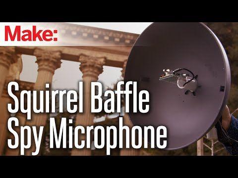 Squirrel-Baffle Spy Parabolic Microphone   Make: