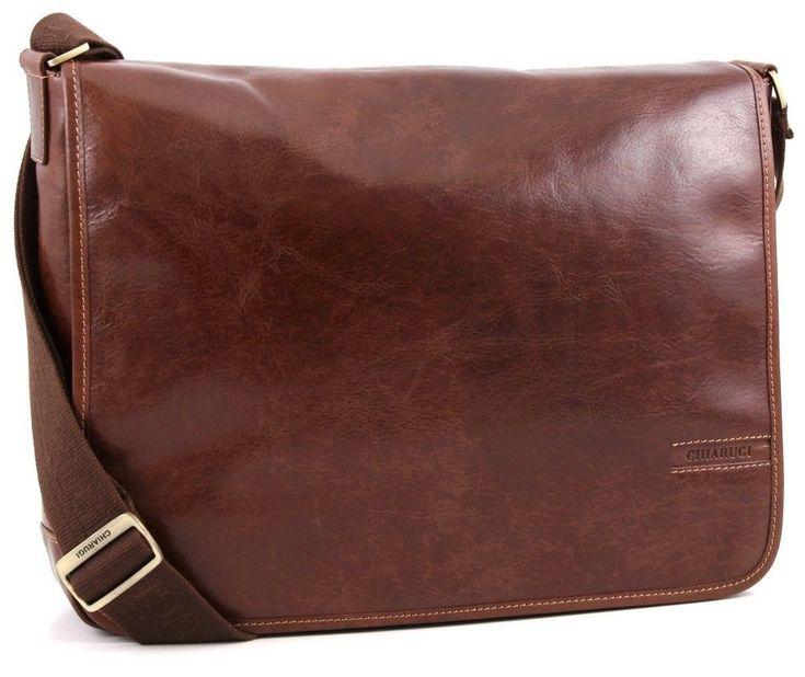 Chiarugi borsa uomo in pelle con tracolla italian leather men bag with shoulder