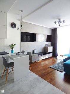 Mieszkanie 35m2 przed i po - Salon, styl nowoczesny - zdjęcie od Interiori…