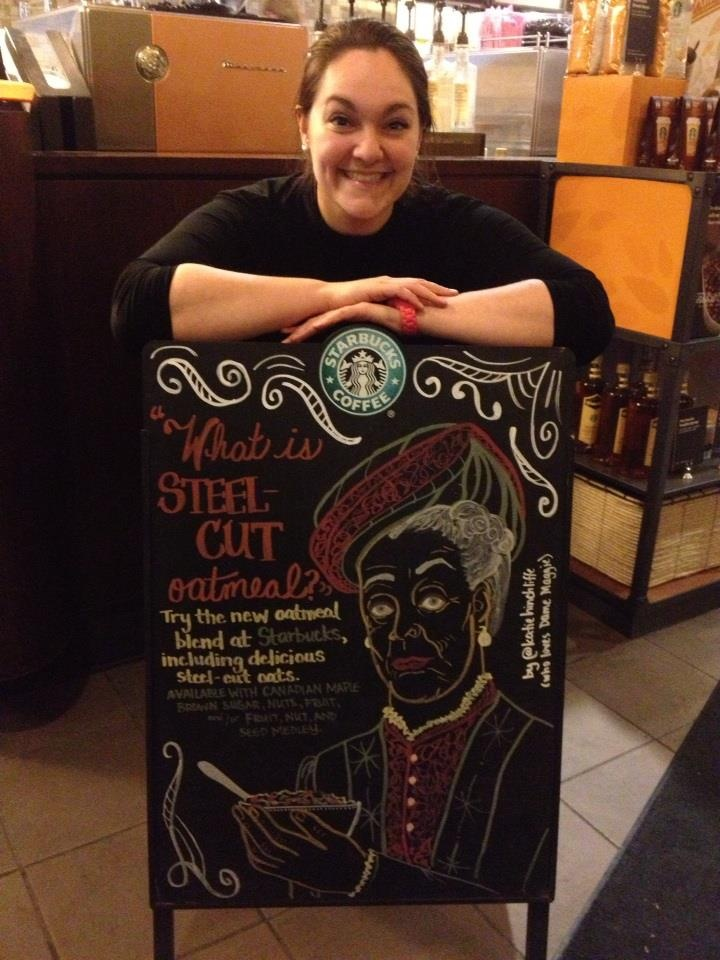 My Maggie / Downton Abbey Starbucks sign!