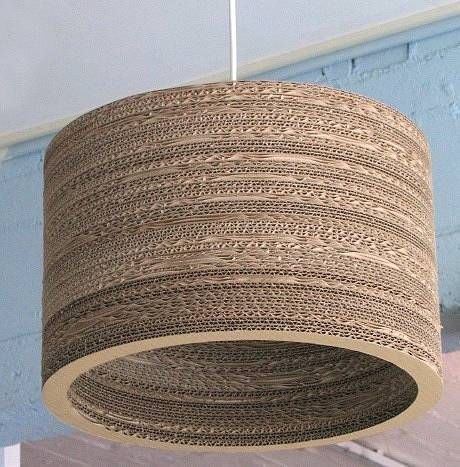 cardboard lampshade by horsfall & wright | notonthehighstreet.com