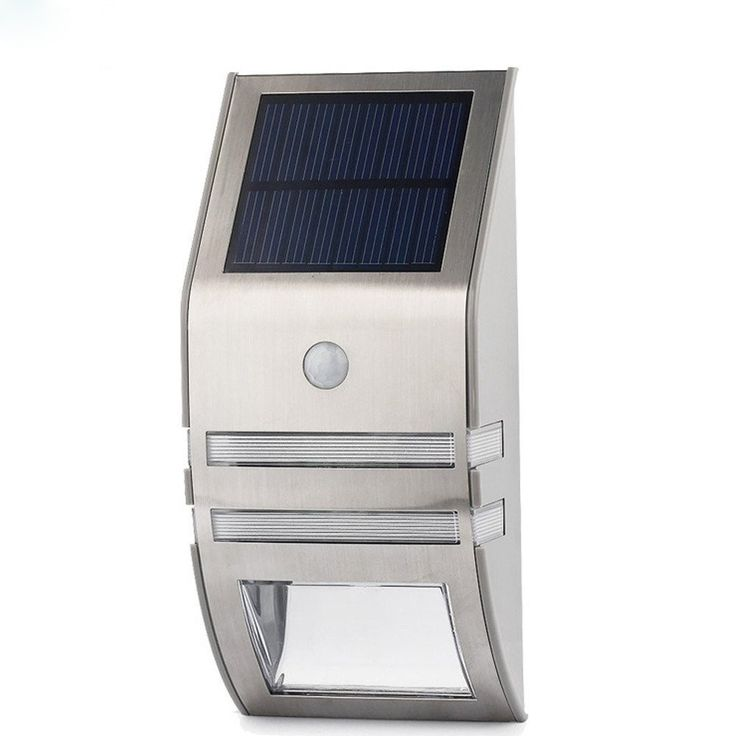 Outdoor Solar Powered Security Light (Silver)
