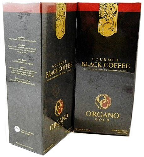 Traditional 2 Boxes Organo Gold Gourmet Black Coffee Free 2 Sachets Gano Excel Classic, ,