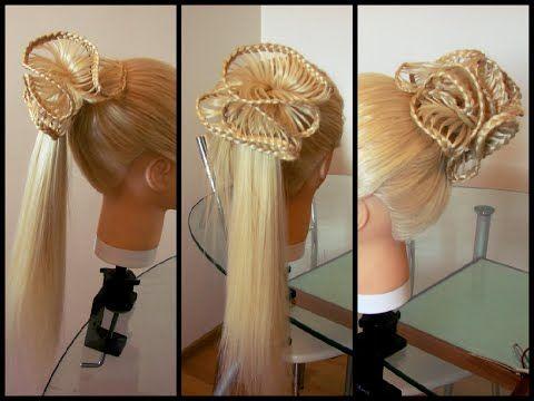Прическа из кос Ажурная коса. Плетение Скат. Кружевное плетение. Braids. Kapralova Olga - YouTube