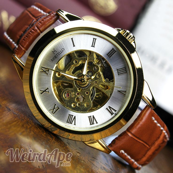 Online shopping for mechanical watches – this one's a gold-standard watch with gold-standard style. A kinetic mechanical #watch, charged by your movements.