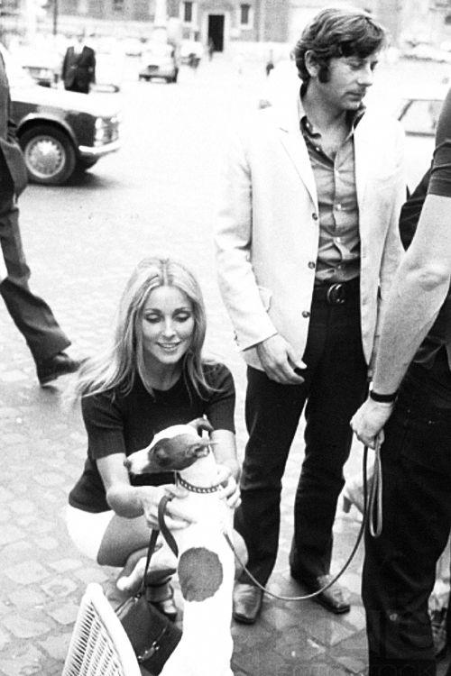 Sharon Tate and Roman Polanski in Cannes, 1968. Photo by Elio Sorci